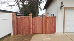 cedar custom fence and gate